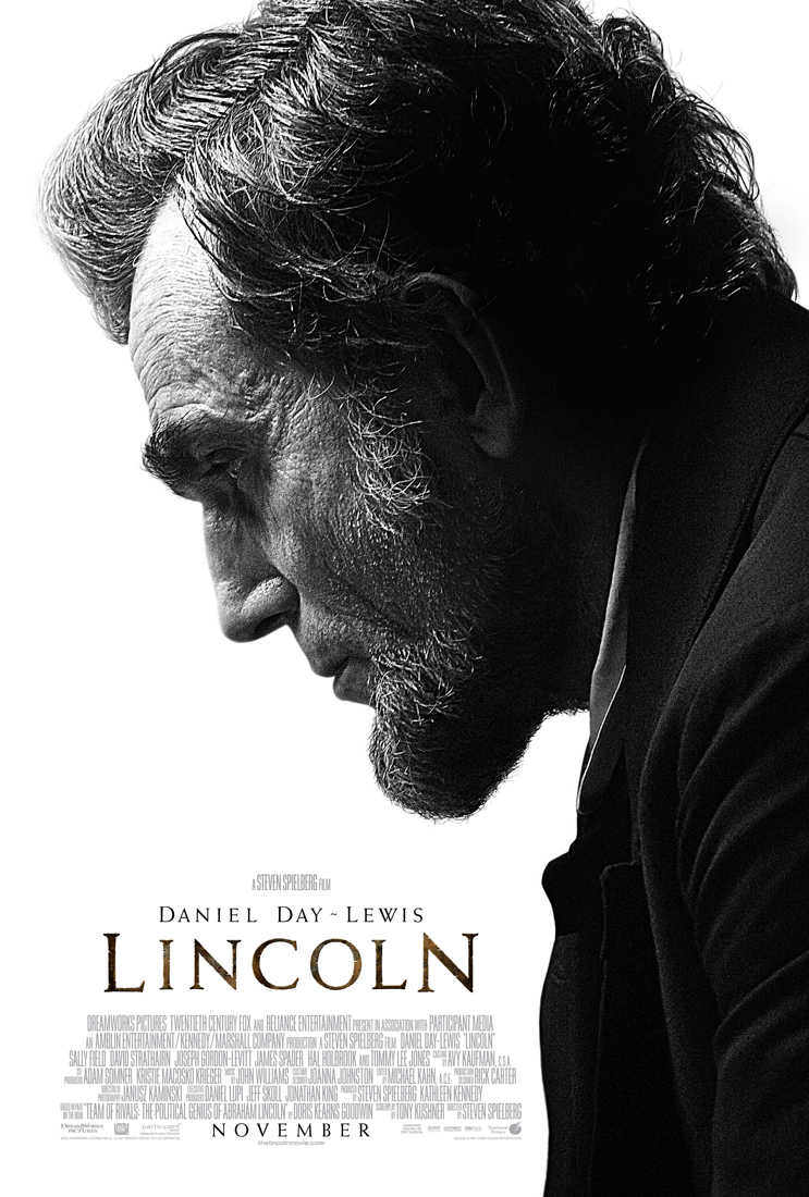 "Daniel Day-Lewis na plakacie ""Lincolna"" Stevena Spielberga"