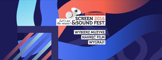 Konkurs na wizualizację utworów muzycznych w ramach Screen & Sound Fest. 2016.
